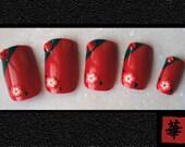 Japanese Nail Art- Imperial Splendor (Larger Size) Press On Nails