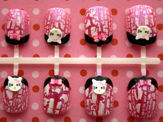 Japanese Nail Art- Hello Kitty Rock Chic