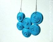 Ocean Blue Jersey Bib Necklace