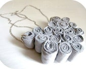 Recycled Jersey Bib Necklace