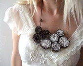 Fibre Art Bib Necklace