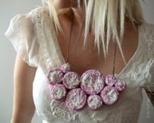 Pink Romantic Bib Necklace