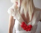 Passion - Fibre Art Bib Necklace