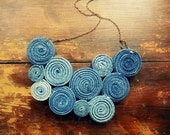 Recycled Levis Jean Bib Necklace No9