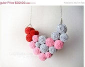 ON SALE Love Fibre Bib Necklace
