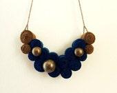 Fiber Art Bib Necklace