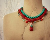Ooak Christmas Necklace