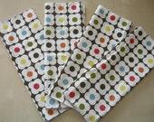 Orla Kiely Fabnaps- Set of 4 Cloth Napkins upcycled fabric napkins free shipping
