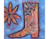 Cowgirl Boot Archival Giclee Print - The Garden Boot