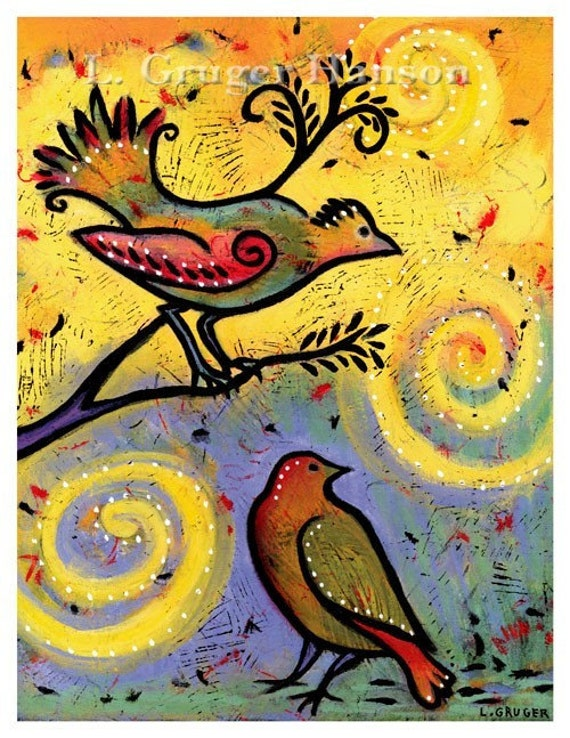 See How Far We've Come - Whimsical Bird Print