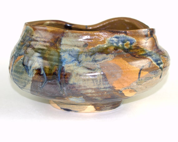 Abstract Pot, Large Ceramic Pot Jar Container, Yarn Bowl