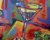 Martinis, original acrylic painting