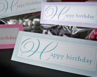 Happy Birthday Bag Toppers