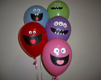 Monster Balloon Faces