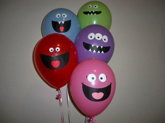 Monster Balloon Faces