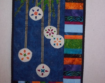 Christmas Ornament Quilted Wallhanging
