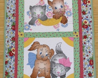 Puppy and Kitty Wall Hanging