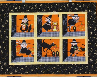 Halloween Witches Quilted Wallhanging