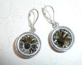 Grey Swarovski Crystal Earrings - E1376