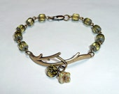 FREE SHIPPING - Green Garden Bracelet   - B1567