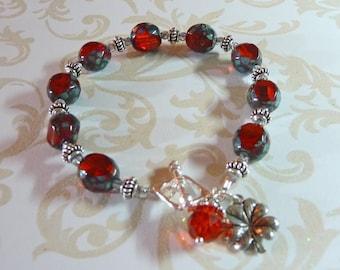 Four Leaf Charm Bracelet     -  B1185