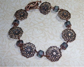 Copper and Blue Bracelet    -     B987