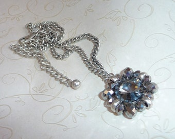 Smoky Gray Crystal Necklace - N1214