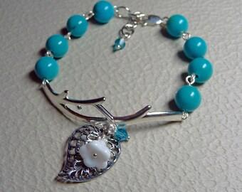 Turquoise Garden Bracelet - B1290