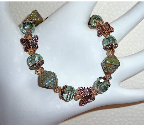 Sparkly Warm Blue/Green Bracelet - B1464