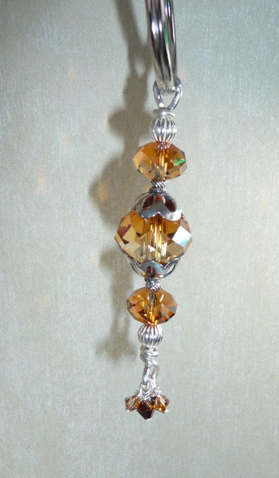 Swarovski Crystal Copper Key Chain - K1506