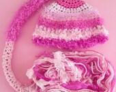Pink Pixie Newborn Baby Girl Photo Prop Hat FREE SHIPPING