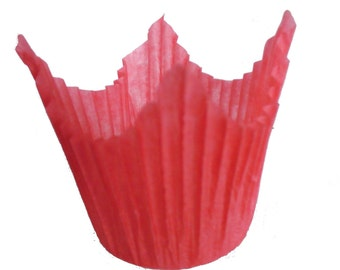 Red Muffin Cases with Points - Crimped Paper Muffin Cases - 50 in pack