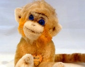 "Vintage Steiff ""Mungo"" the Ape, Mohair, 6 Inches High"