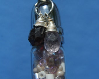 Potion Bottle Pendant - Special Edition Victorian Amethyst  Potion Bottle Pendant or Charm