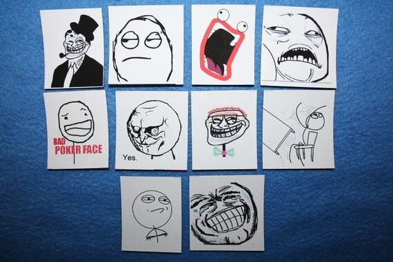 Rage Face Magnets Set of 10 Includes Shoop Da Woop, Sweet Jesus, Table Flip, Epic Luls, Melvin, and more