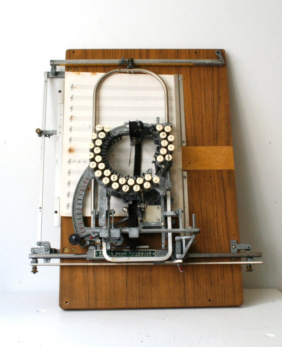 rare keaton music typewriter. Black Bedroom Furniture Sets. Home Design Ideas