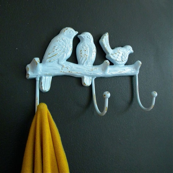 blue birds coat hanger
