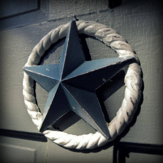 White Star Wall Decor : Nautical star wall decor white and slate