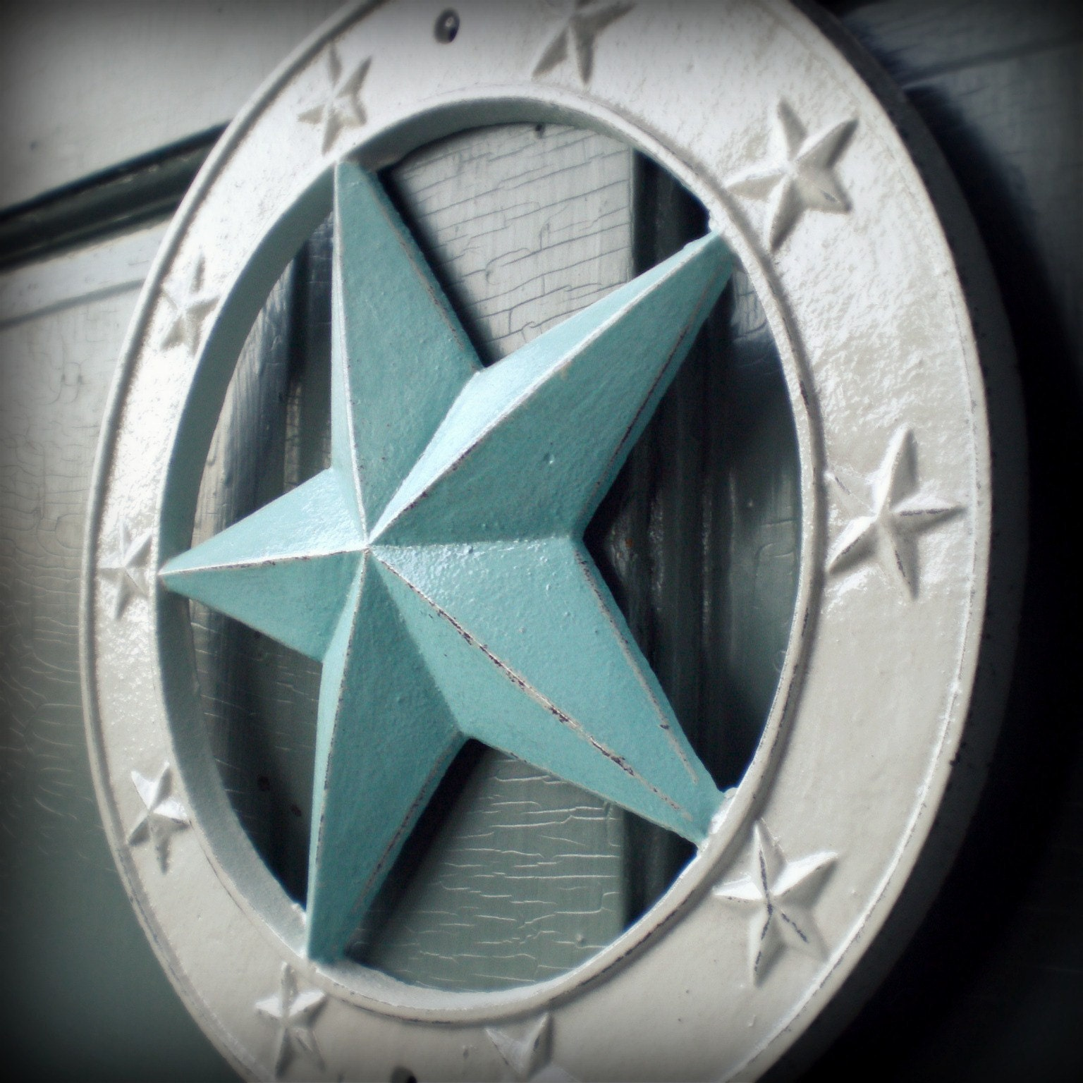 Blue Star Wall Decor : Nautical star wall decor large blue and white