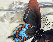 Unique 3d paper butterflies related items etsy for Room decor embellishment art 3d