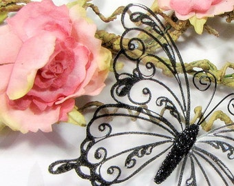 Glass Butterfly Embellishments G6