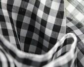 Handmade Black and White Checkered Pocket Square