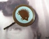 Custom order for buyer elsapo - Happy Hedgehog Bobby Pin