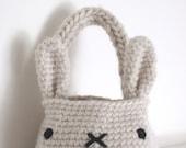 SWEET FUZZY - bunny basket bag - custom made
