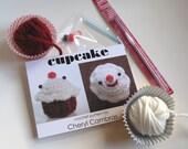 red velvet cupcake - crochet kit