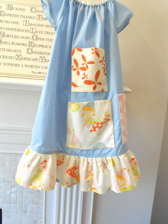 "Sale Nightgown Or Dress Size 3T "" Treasure Pockets""  Designer Cotton betrueoriginals"