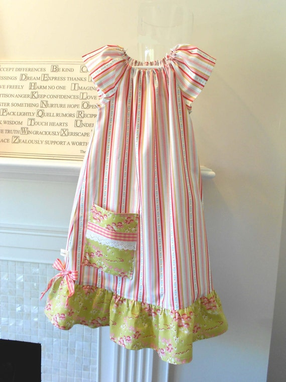 "Dress  Or Nightgown Size 4T ""Afternoon Tea""  Designer Cotton betrueoriginals"