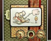 Marshmallow Toasting Handmade Greeting Card