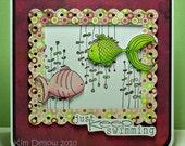 Just Keep Swimming Handmade Greeting Card
