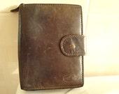 SALE vintage brown genuine leather wallet